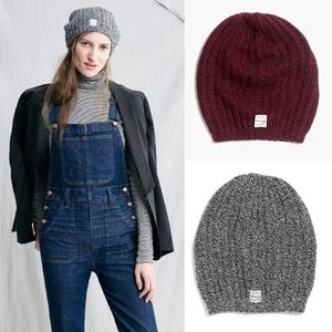 Madewell Coziest Ribbed Beanies Bundle of 2